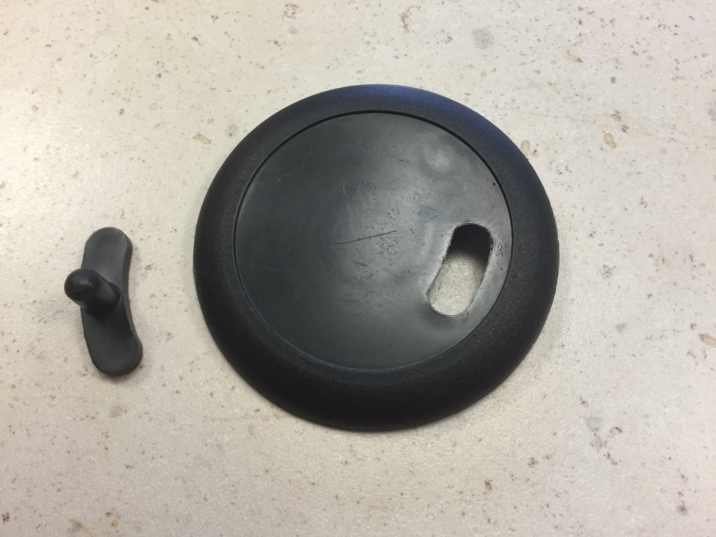 Hub Cap & Pip for Quick Release Sports / Domed Wheel / Air wheel